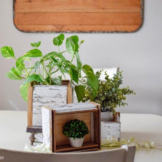 DIY Chippy White Planter Boxes 60