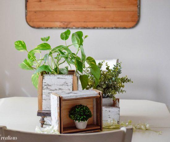 DIY Chippy White Planter Boxes 1