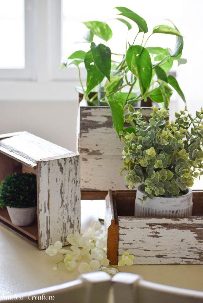 DIY Chippy White Planter Boxes 19