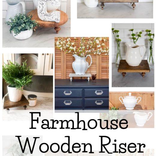 How to use a Farmhouse Pedestal Riser 60
