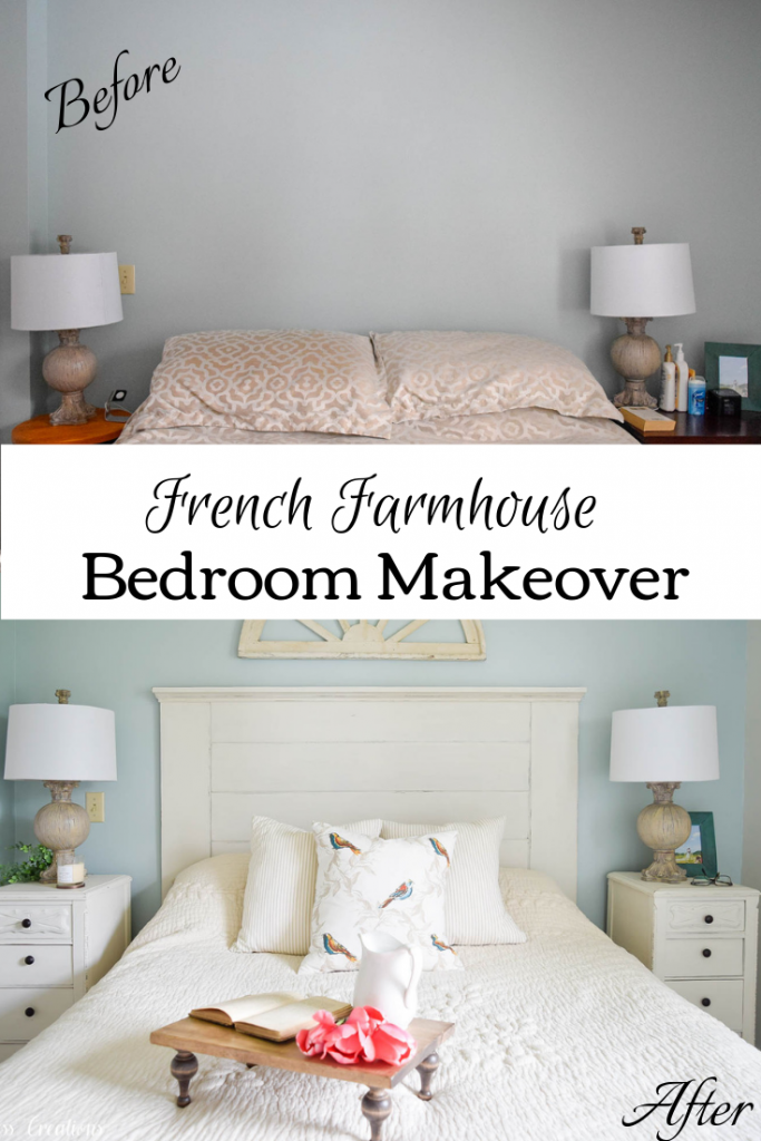 French Farmhouse Master Bedroom Makeover Reveal for the One Room Challenge :: Timeless Creations