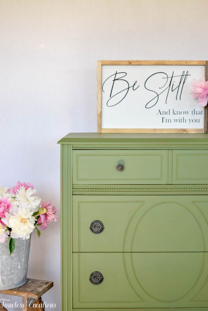 Painting with Boxwood Green Milk Paint 4