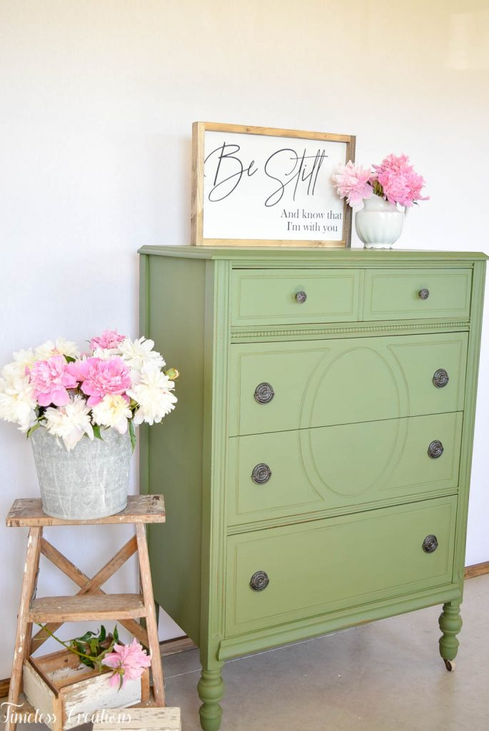Painting with Boxwood Green Milk Paint 5