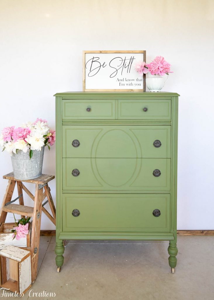 Painting with Boxwood Green Milk Paint 3