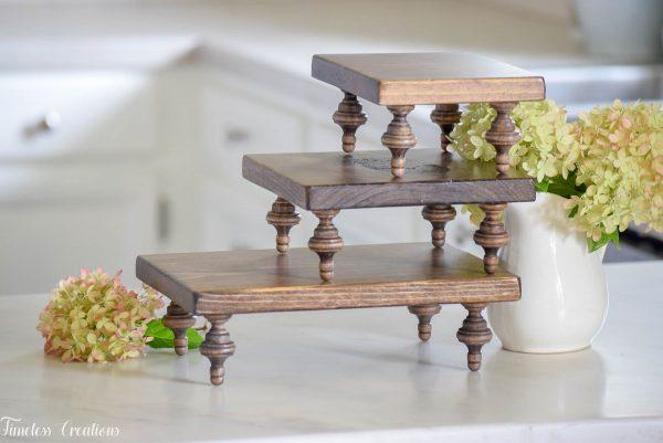 Small Farmhouse Riser / Pedestal Tray 7