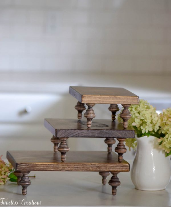 Small Farmhouse Riser / Pedestal Tray 8
