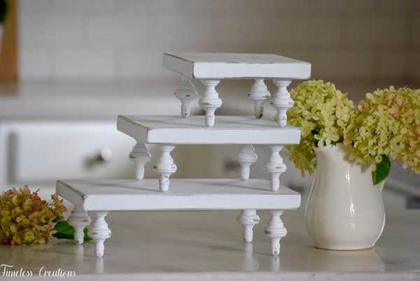 Small Farmhouse Riser / Pedestal Tray 11