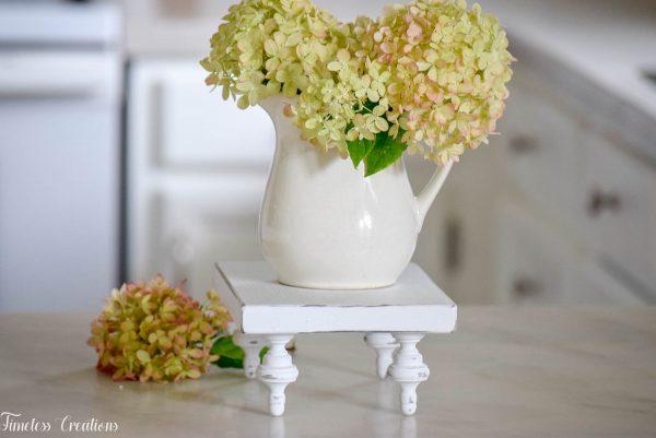 Small Farmhouse Riser / Pedestal Tray 17