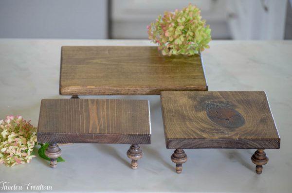 Small Farmhouse Riser / Pedestal Tray 9