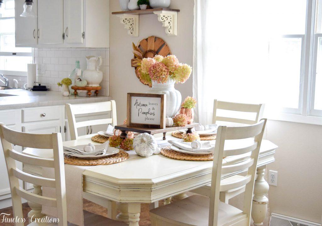 Enjoyable A Fall Hydrangea Tablescape Timeless Creations Llc Short Links Chair Design For Home Short Linksinfo