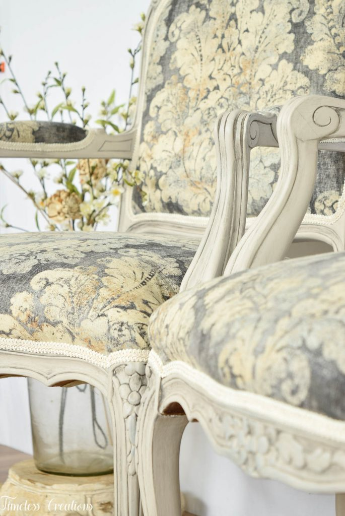 Upholstered French Chairs and Matching Washstand - Country Chic Paint Challenge 13