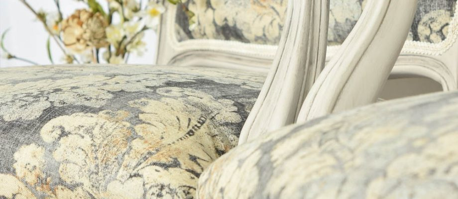 Upholstered French Chairs and Matching Washstand – Country Chic Paint Challenge