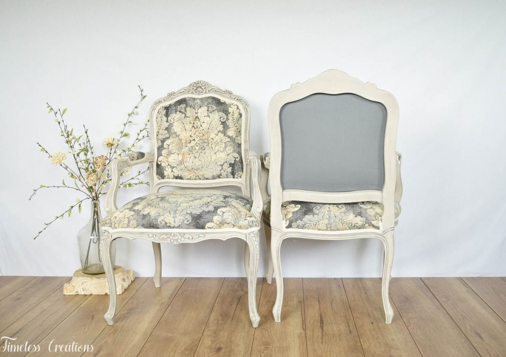 Upholstered French Chairs and Matching Washstand - Country Chic Paint Challenge 9