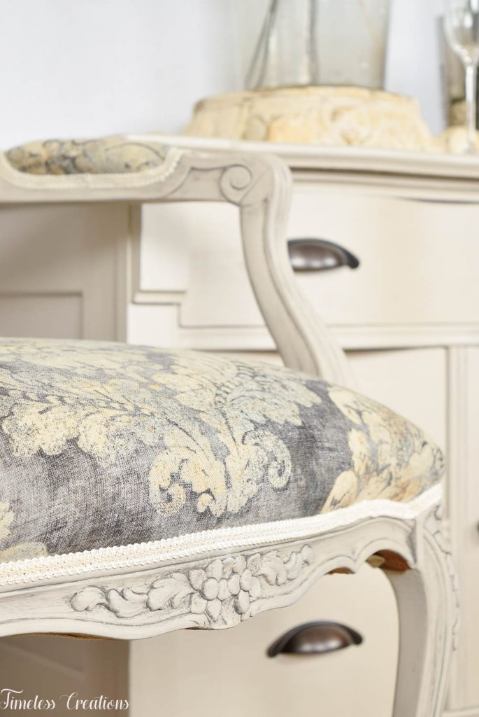 Upholstered French Chairs and Matching Washstand - Country Chic Paint Challenge 12