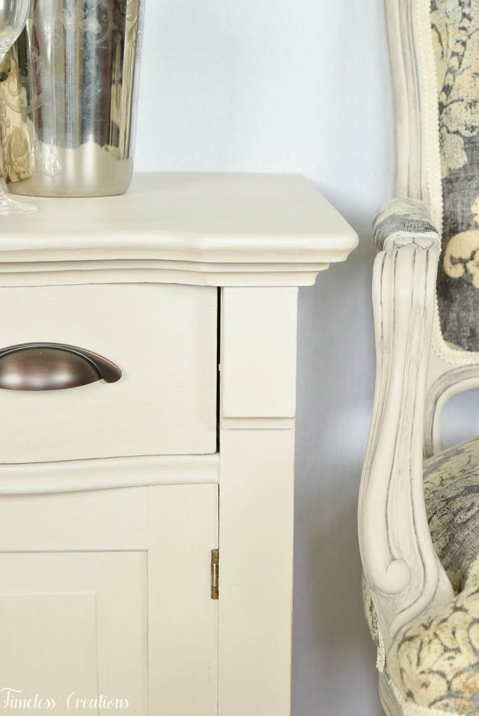 Upholstered French Chairs and Matching Washstand - Country Chic Paint Challenge 1