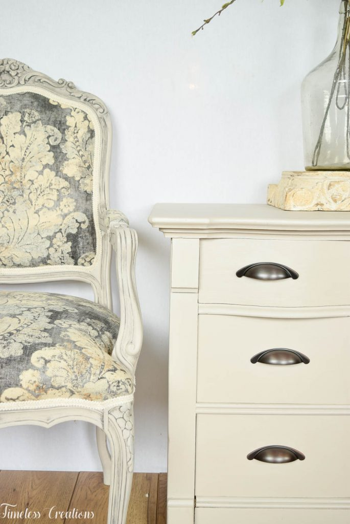 Upholstered French Chairs and Matching Washstand - Country Chic Paint Challenge 11