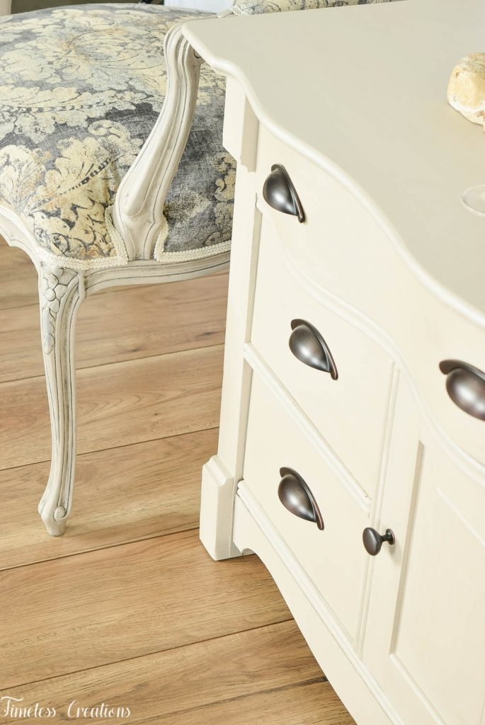 Upholstered French Chairs and Matching Washstand - Country Chic Paint Challenge 3