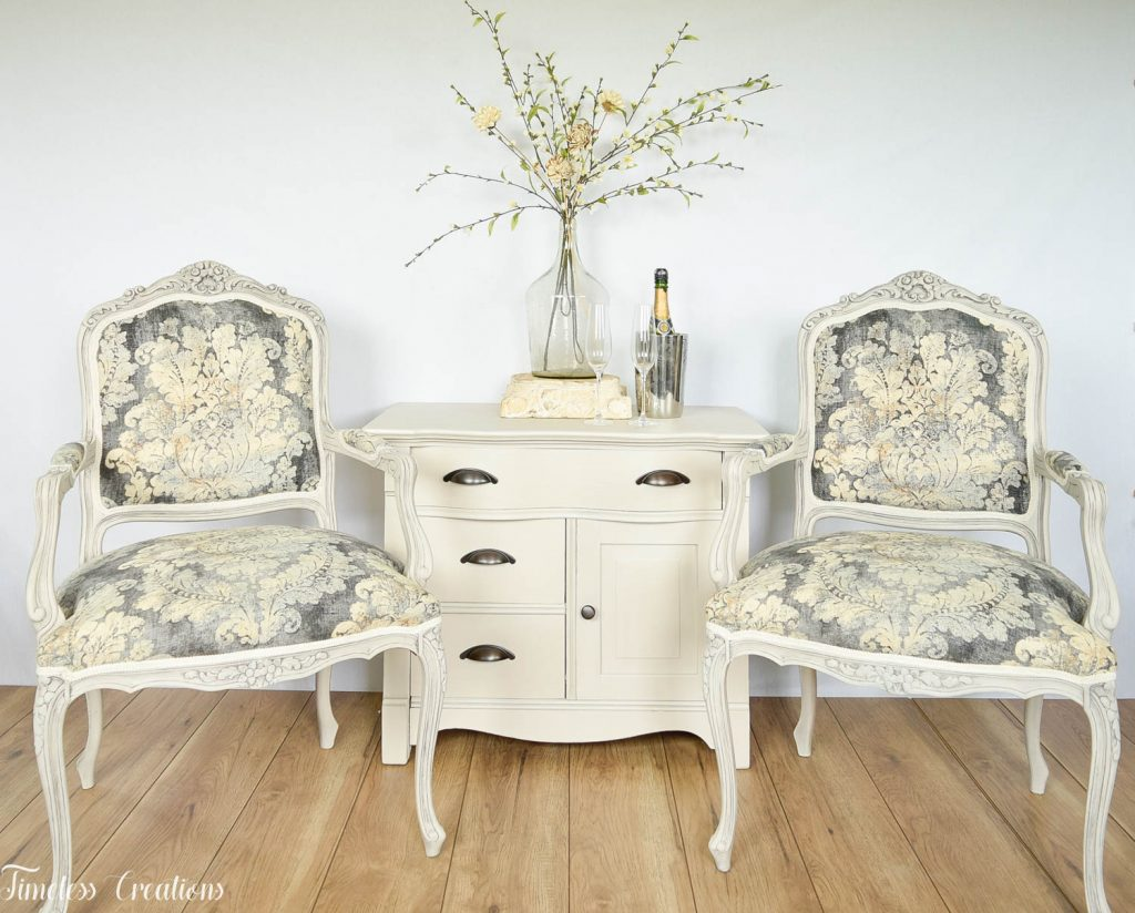 Upholstered French Chairs and Matching Washstand - Country Chic Paint Challenge 6