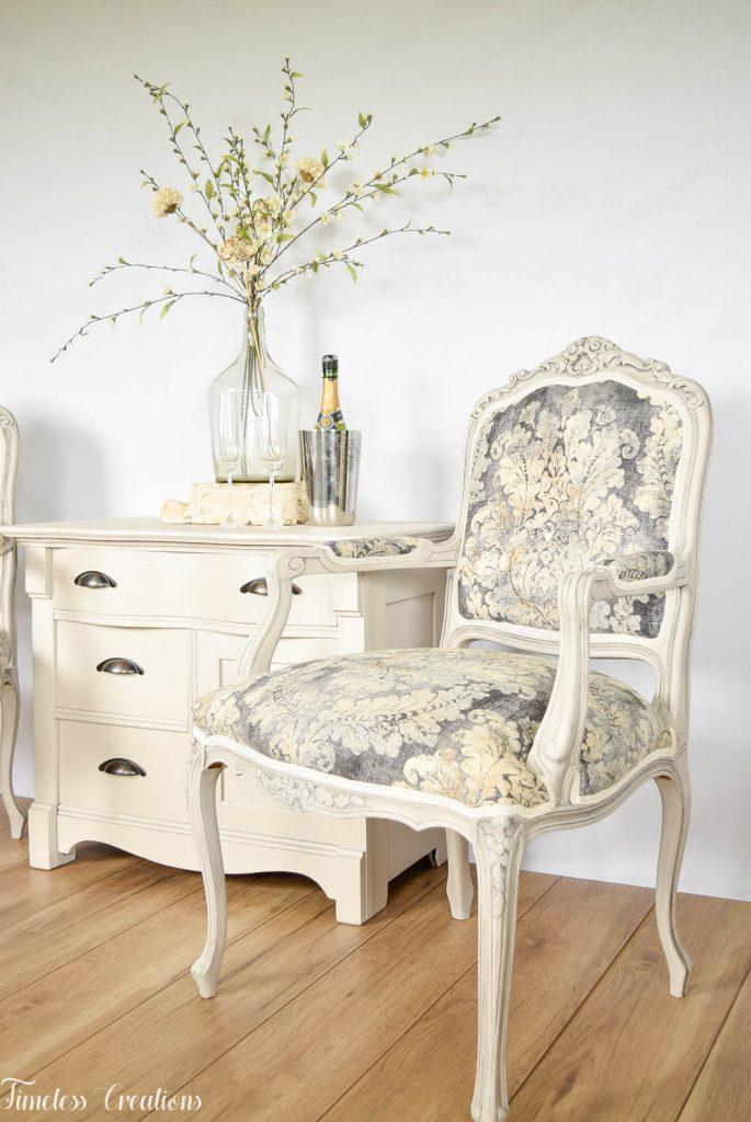 Upholstered French Chairs and Matching Washstand - Country Chic Paint Challenge 8