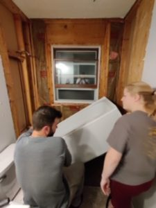 Bathtub Demolition - One Room Challenge Week 2 7