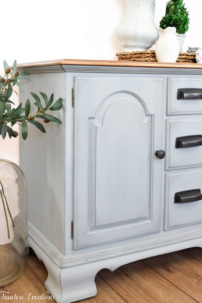 Gray-Blue Buffet with Country Chic Paint 5