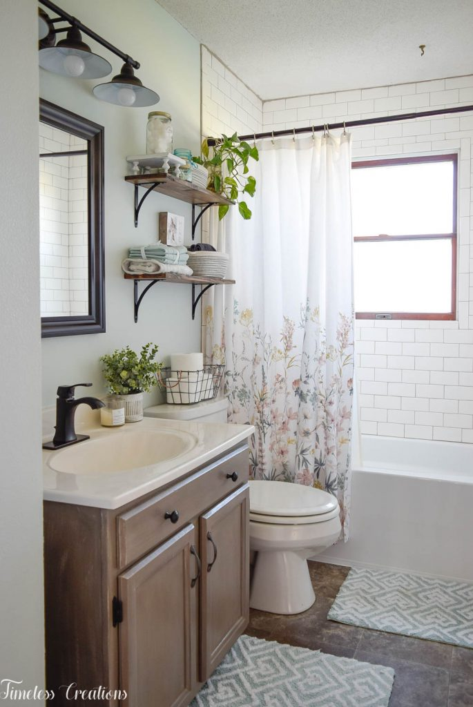 Bathroom Makeover Reveal at Kristen's House- One Room Challenge 5