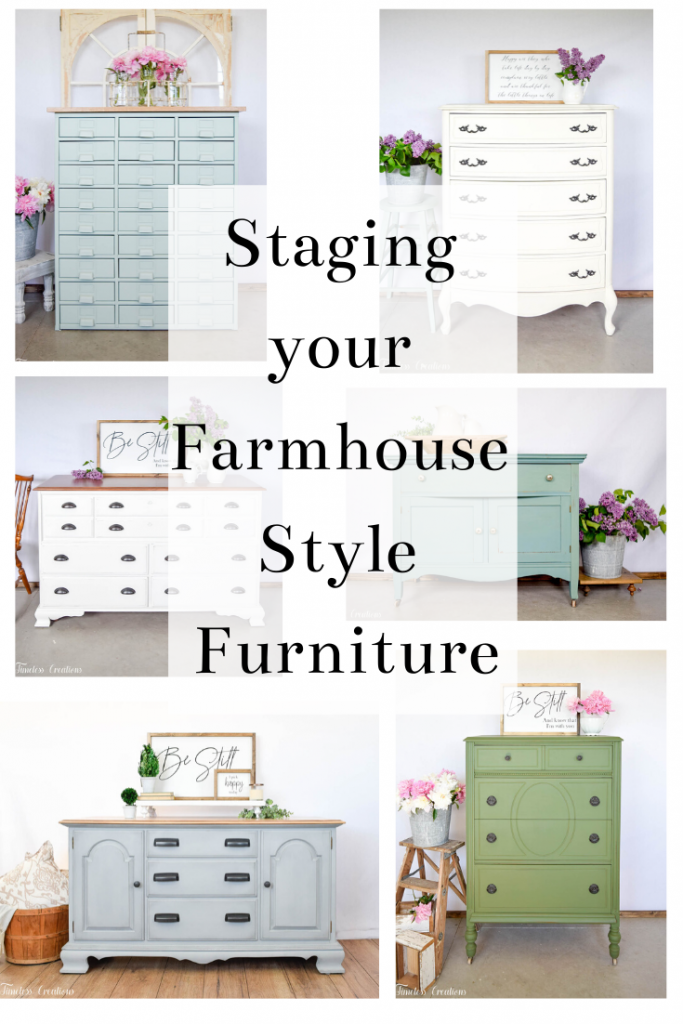 How to Stage your Farmhouse Style Furniture to Sell 11