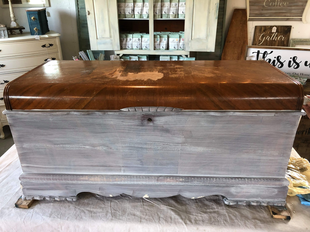 An Upholstered Cedar Chest 1