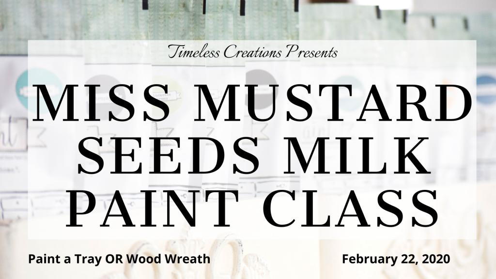 Milk Paint 101 Class: Paint a Tray or Wreath (February) 9