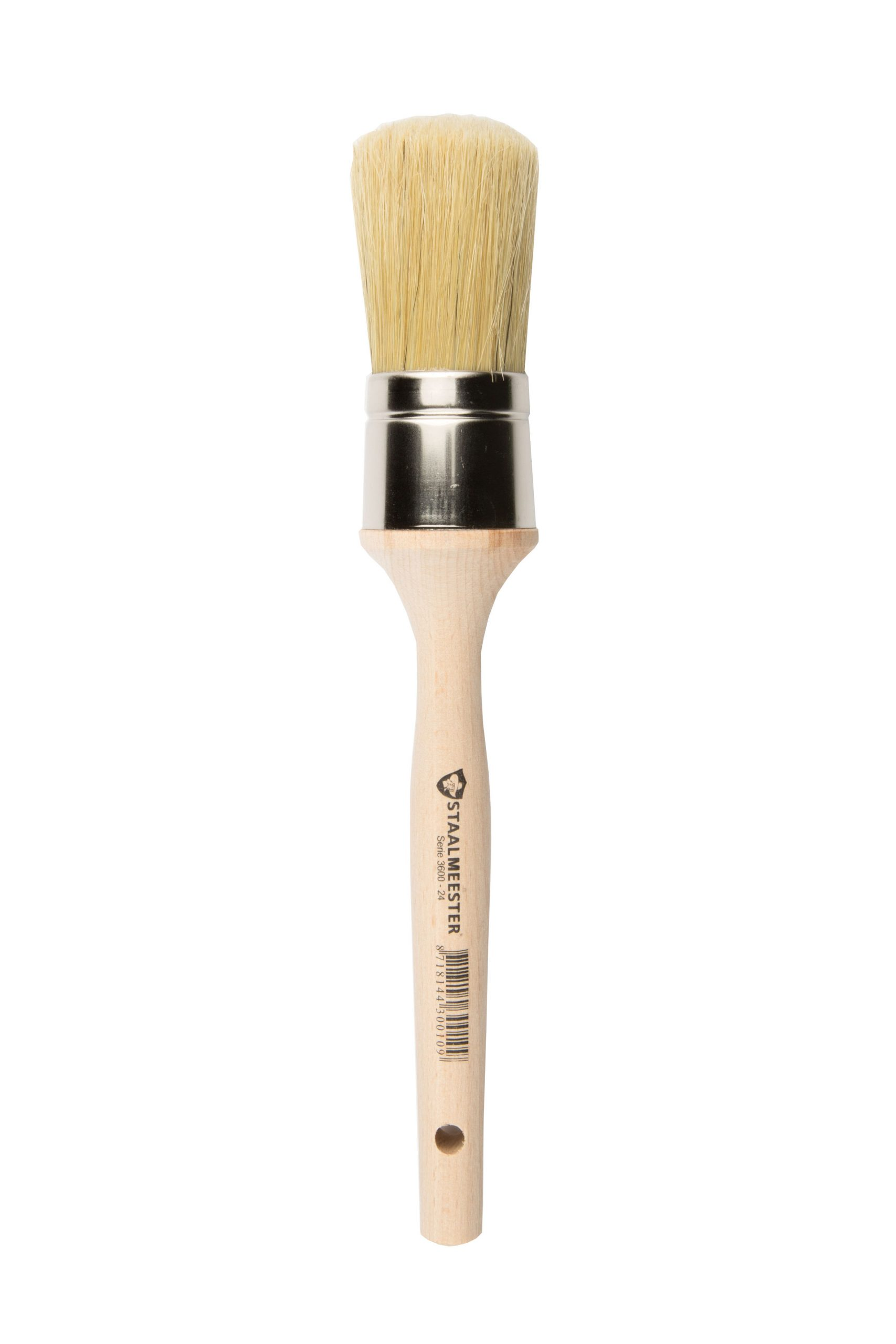 Staalmeester Premium Brush - Round Natural Bristle #24 1